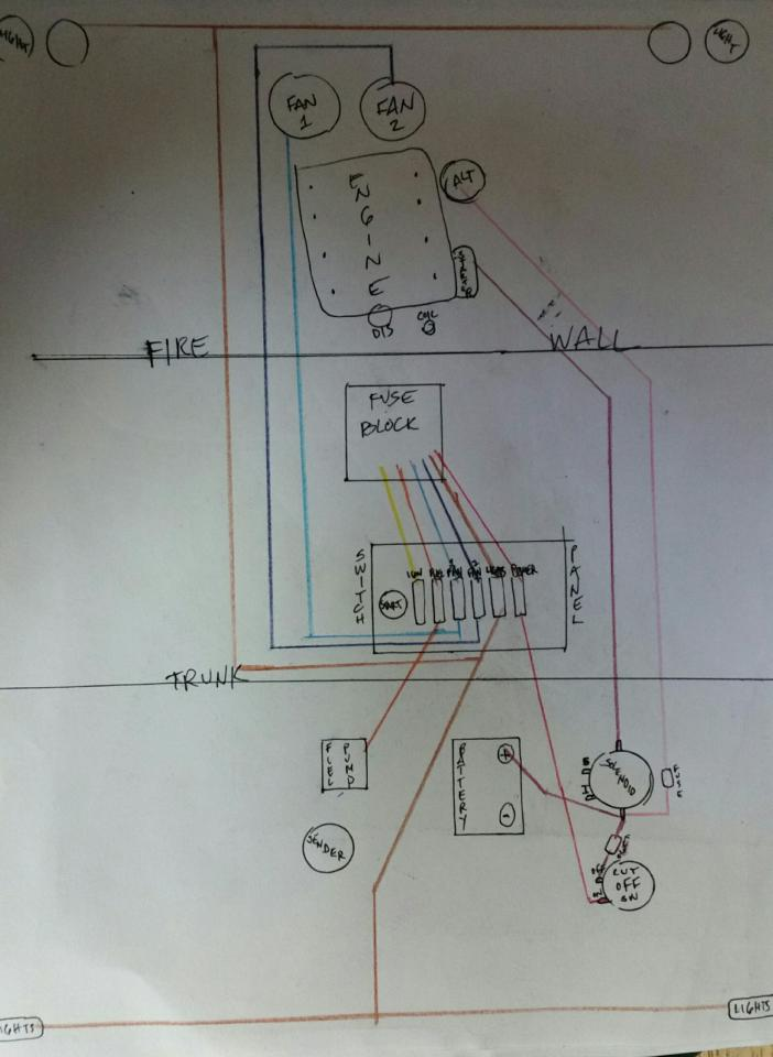 From Scratch Drag Car Wiring Chevy Nova Forum
