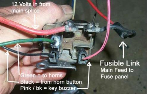 horn relay wiring diagram 71 le mans horn not working 71 nova chevy nova forum  horn not working 71 nova chevy nova forum