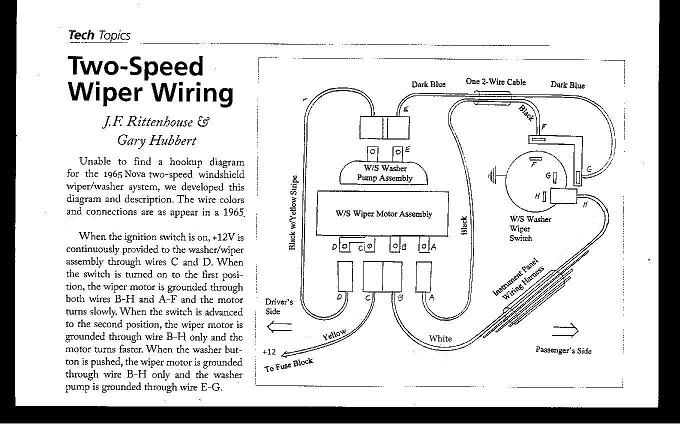 65 2 Speed Wiper Wiring Information Chevy Nova Forum