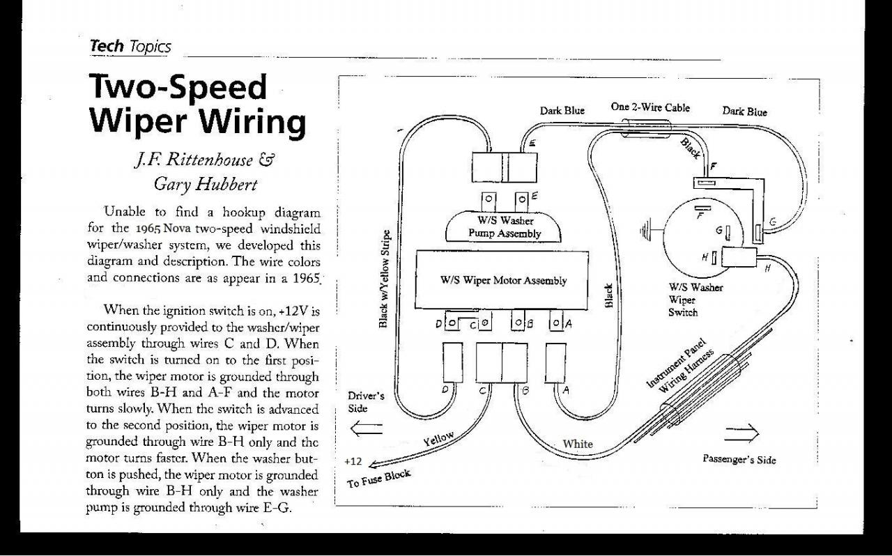 65 2 Speed Wiper Motor Wiring Diagram Chevy Nova Forum