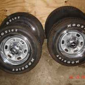 Awesome Craigslist find. Rally wheels with almost new Hoosier tires for $200