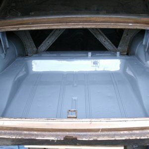 Restored- Original trunk pan