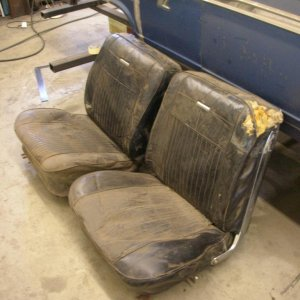 The before look of the 63 SS bucket seats.