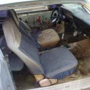 my 69 inside the interior war discustin and nasty,  even discovered someone went and installed the passanger seat with WOOD SCREWS,SAME WITH THE SEAT