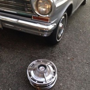Nova ss hubcaps, free from a great neighbour/car guy!
