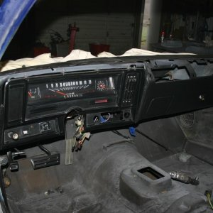 new dash,Also have added all mounts for bucket seats and the hump for the shifter.
