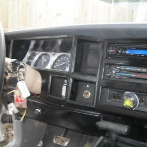 Since Rufus was ghetto right out the gate I spared no expense on duck take and krylon. This was right after I installed my CD player, push start, pain