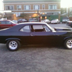 This was my 69' Nova I had to sell a few years back due to hard times. I had her since high school.... Im building this new 69' into what she was gonn