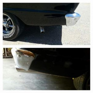 Replaced exhaust, bottom picture is the 'after' pic.